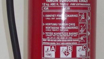 12 Kg Köpüklü Yangın Söndürme Tüpü